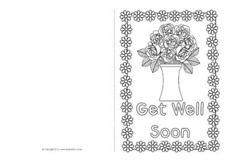 docs template get better card get well soon card colouring templates sb8890 sparklebox