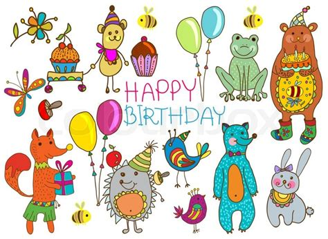 Geburtstag Bilder Stock Fotos Colourbox Animated Birthday Card Drawing With Color