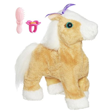 furreal friends walking furreal friends walking walkin pet interactive pony butterscotch brown new ebay