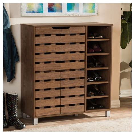 studio shirley 24 pair shoe storage shirley modern and contemporary 2 door shoe with