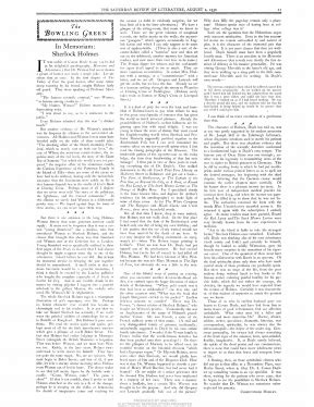 Saturday Review Literature Archives by Christopher Morley The Arthur Conan Doyle Encyclopedia