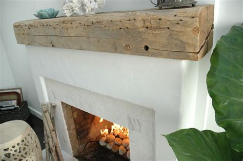 driftwood mantle steals rustic appeal from the past and