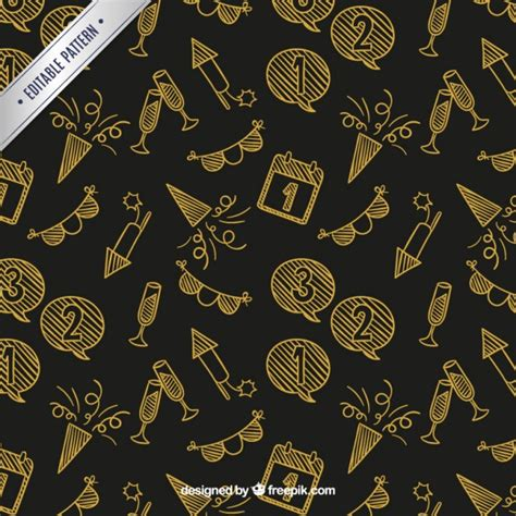 new pattern vector new year eve pattern vector free download