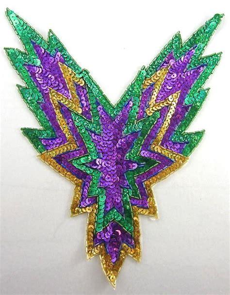Sale Tila Cornely Motif Metalik 13 2 Lavender designer motif mardi gras colors purple green gold sequins and 1 sequinappliques