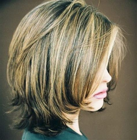 Medium Stacked Hairstyles by Stacked Medium Length Haircuts