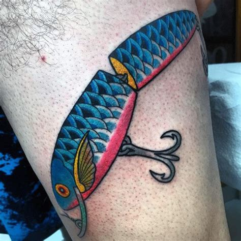 fishing lure tattoo 75 fish hook designs for ink worth catching