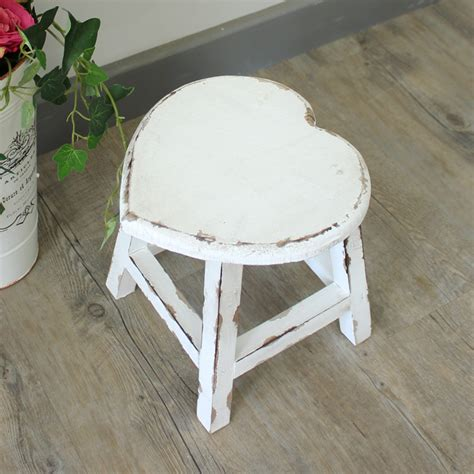 white wooden small white wooden stool melody maison 174