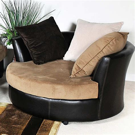 Round lounge chair living room