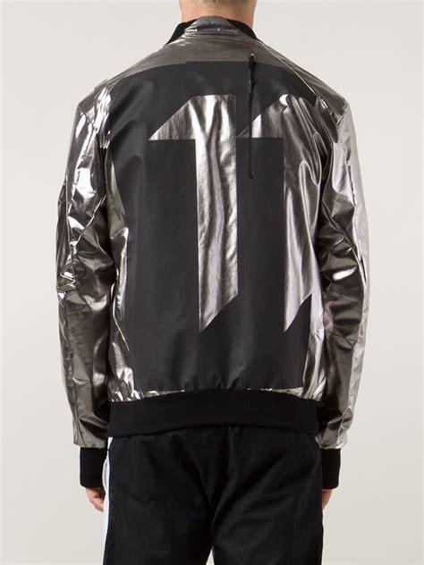 Pull And Bomber Jacket Silver boris bidjan saberi 11 metallic bomber jacket in metallic