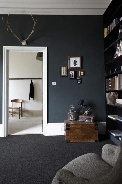 dramatic living room  black walls dark living rooms