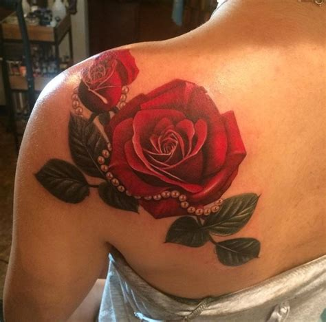 red rose tattoo on shoulder image result for tattoos daniel