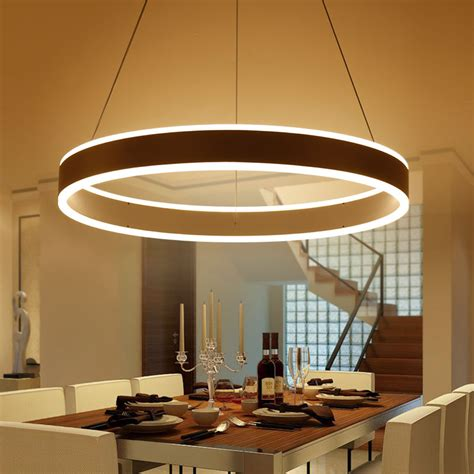 restaurant kitchen lighting modern led ring pendant lights for dinning room living
