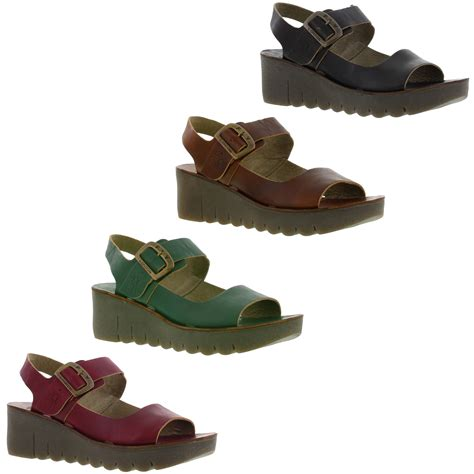 fly sandals fly yael womens shoes wedge heel sandals size uk 7