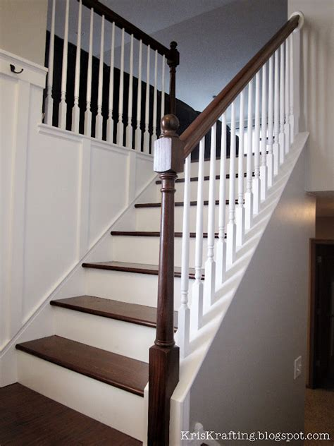 How To Stain Banister For Stairs by Kriskraft Wood Banister