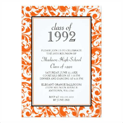 16 Reunion Invitation Templates Free Premium Design Templates Free Premium Templates Class Reunion Invitation Template