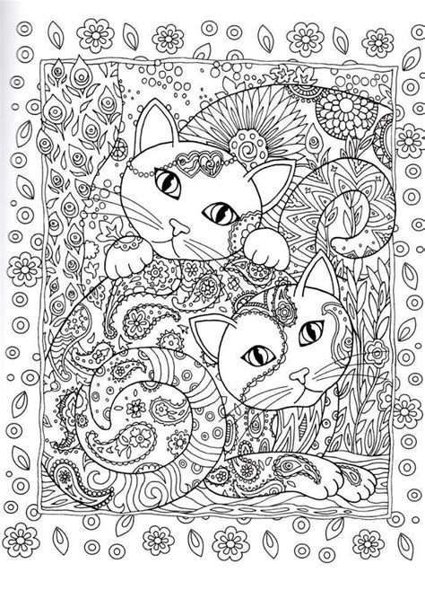 advanced cat coloring pages 30 best images about adult coloring pages on pinterest