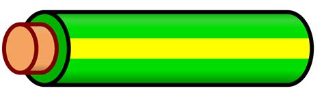 file wire green yellow stripe svg wikimedia commons