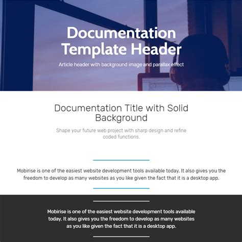 theme documentation template free bootstrap 4 template 2017