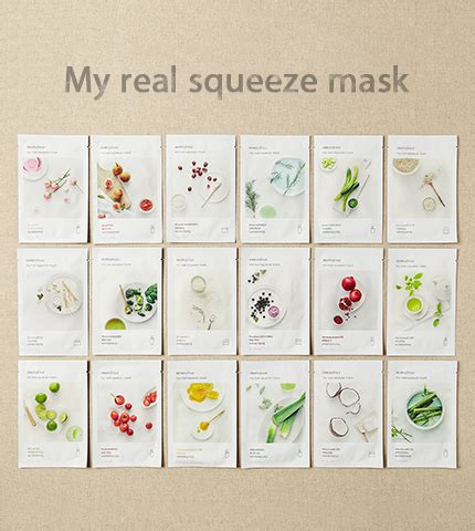 Innisfree My Real Squeeze Mask 100 Original 1 skin care my real squeeze mask manuka honey innisfree