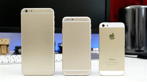 5.5 Inch iPhone 6 mockup compared to iPhone 5s and other