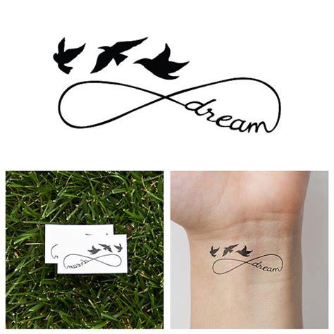 infinity tattoo temporary infinity dream temporary tattoo set of 2