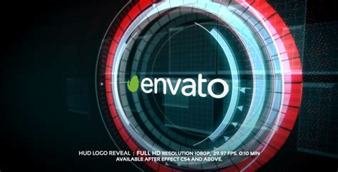 Hud Logo Reveal Electric After Effects Templates F5 Design Com Iron Hud After Effects Template