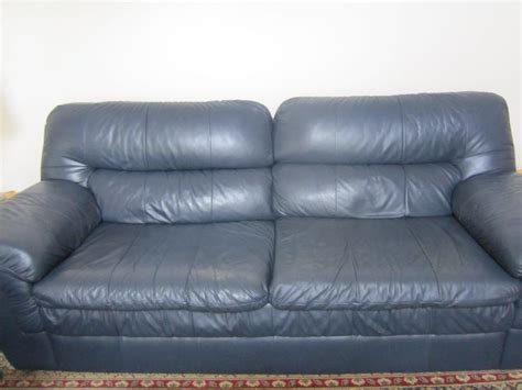 used lazy boy couch lazy boy blue leather sofa west carleton ottawa