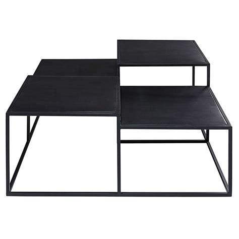 Table Basse Mã Tal Noir Table Basse 4 Plateaux En M 233 Tal Noir Edison Maisons Du Monde