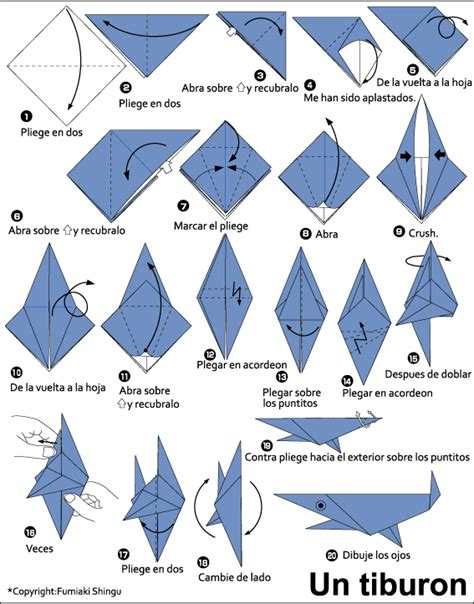How To Make A Paper Shark Easy - easy origami shark comot