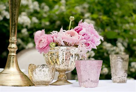 diy wedding centerpiece with pink ranunculus and peonies