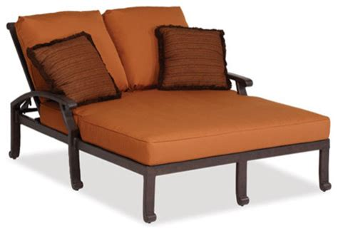 outdoor double chaise lounge cushions newport double chaise w cushion contemporary outdoor