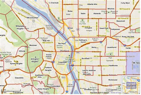 map of portland portland neighborhood map map3
