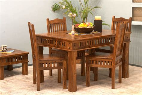 natural wood dining room sets natural living furniture wooden sheesham hardwood