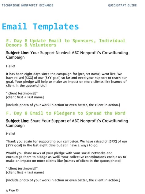 exchange email templates start guide for your nonprofit technology