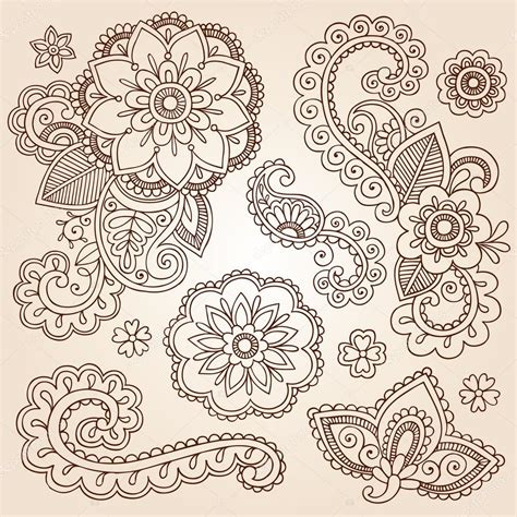 henna tattoo designs eps henna mehndi doodles abstract floral paisley design