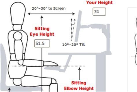 Computer Desk Ergonomics Measurements Top 10 Ergonomic Upgrades For Your Workspace