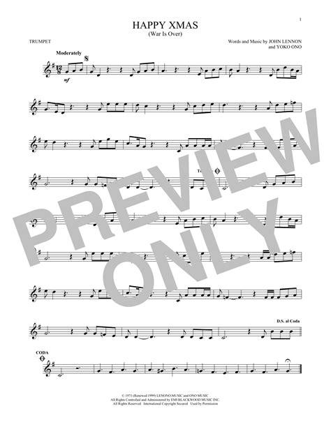 John Lennon - Happy Xmas (War Is Over) sheet music