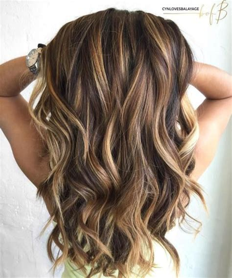 short curly brown hair with highlights 60 looks with caramel highlights on brown and dark brown