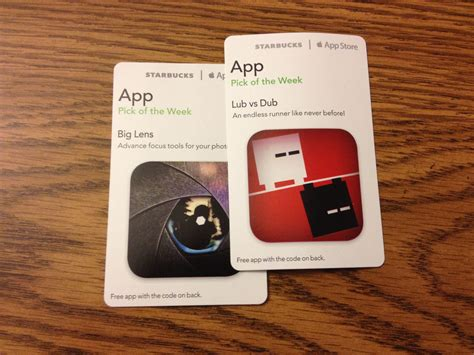 Starbucks Redeem Gift Card - starbucks now lets you use your iphone s camera to redeem pick of the week cards