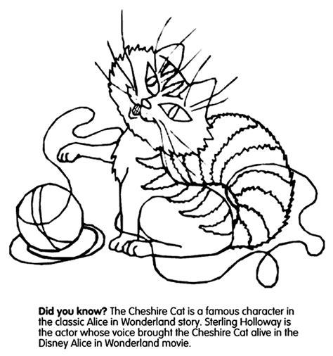crayola coloring cat page cheshire cat crayola co uk