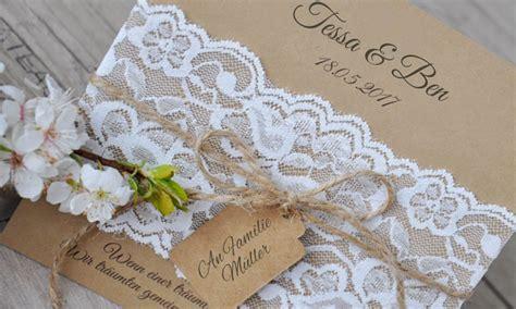 Hochzeit Einladungskarten Spitze by Einladungskarten Hochzeit Vintage Quot Kraftpapier K 252 Sst Spitze Quot