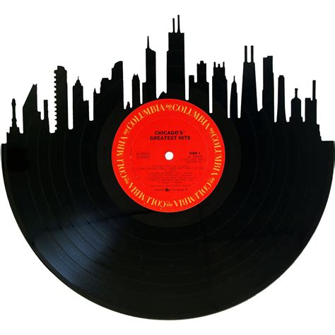 De Records Chicago Skyline Vinyl Record Records Redone