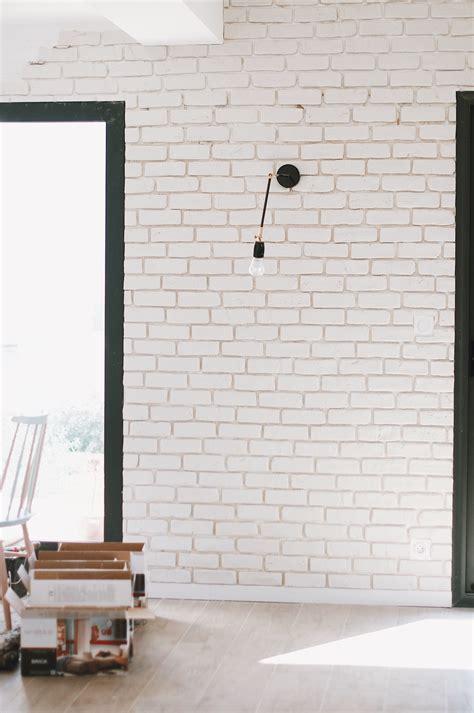 Mur Brique Blanche Salon by Parement Brique Blanche Inspirations Avec Mur Brique