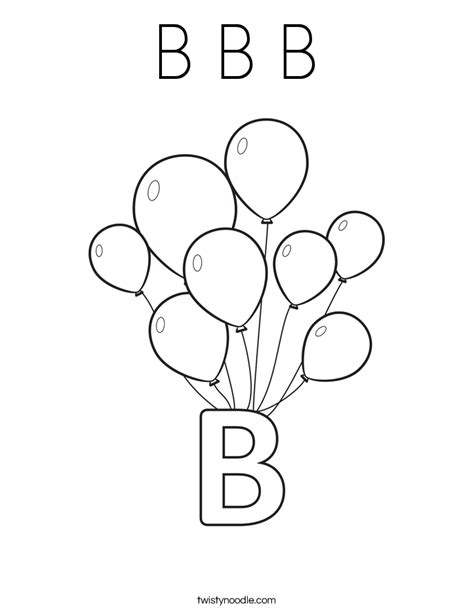 coloring pages of letter b b b b coloring page twisty noodle