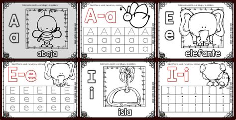 imagenes educativas vocales colecci 243 n de fichas grafomotricidad las vocales y colorear