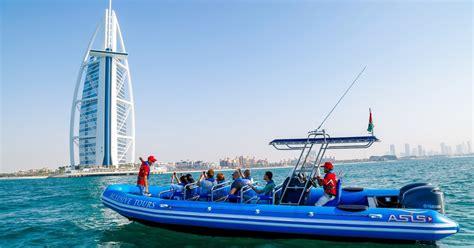 speed boat ride dubai dubai 90 minute palm jumeirah burj al arab by rib