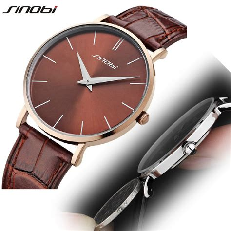 sinobi brands luxury fashion mens watches slim genuine
