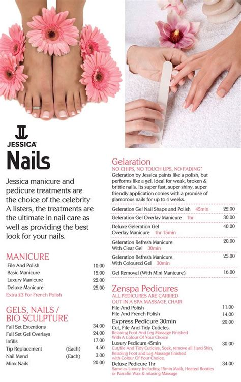 nail salon price list template nail salon price list nail supplies nail