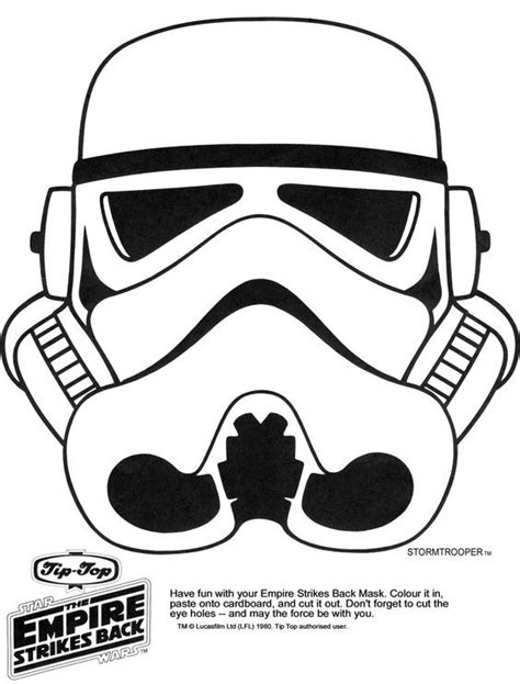 printable star wars helmet star wars printable masks kaplans page storm trooper