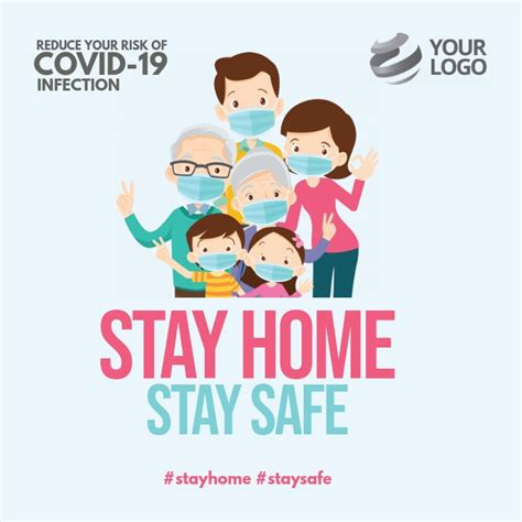 stay home stay safe covid  instagram template postermywall